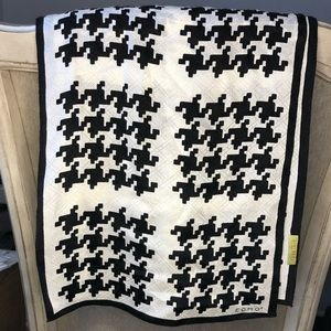 Echo Silk Scarf houndstooth print